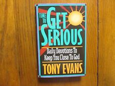 "DR.  TONY  EVANS   Signed Book (""TIME TO GET SERIOUS""-1995 1st Edition  Hardback"