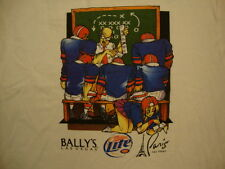 Bally's Las Vegas Miller Lite Funny Sexy Cheerleader White T Shirt XL
