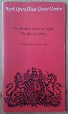The Firebird... ballet programme Royal Opera House Covent Garden 10th Feb 1979