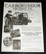 1919 OLD MAGAZINE PRINT AD, CARBORUNDUM PRODUCTS, IN THE SERVICE OF INDUSTRY!