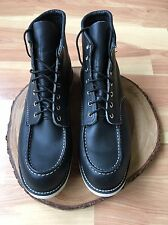"""Red Wing 6"""" Classic Moc Toe Heritage Boot 9075 Black Size 12"""