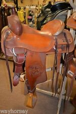"""Courts Ranch Roping Saddle - Texas State Fair Commerative - 16"""" Slick Seat"""