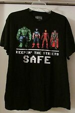 Mens Tee Shirt L Clothing Flash Hulk Marvel Mad Engine Comic Keepin Streets Safe