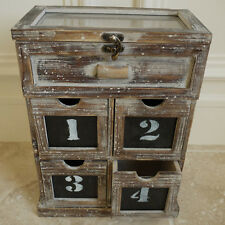 Small Shabby Chic Style Wooden Drawer Cabinet Rustic Garden Storage Unit Box