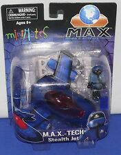 Minimates Vehicle S2 Mobile Action Xtreme M.A.X. Stealth Jet w/ Plot Figure MINT