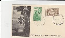 FIJI HEALTH STAMPS 1951 TYED ON ADDVERTISING COVER