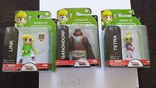World of Nintendo LINK, GANONDORF, TETRA Windwaker Jakks Pacific BRAND NEW 2.5 ""
