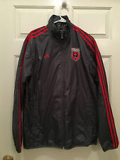 NWT MLS Adidas DC United Finished Stadium Authentic Full Zip Gray Jacket Medium