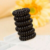 Women 10PCS Elastic Rubber Hairband Phone Wire Hair Tie Ring Rope Band Ponytail