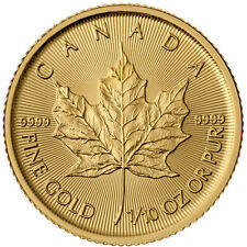 2016 1/10 oz .999 Canadian Gold Maple Leaf Coin