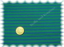 Campan Baumwoll Jersey Hilco grün royalblau 50 cm Streifenstoff Stoff gestreift