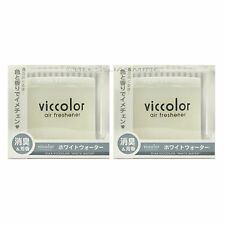2 PACK DIAX JAPAN - VICCOLOR WHITE WATER (FRESH CITRUS) SCENT AIR FRESHENERS