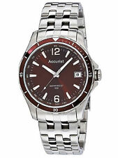 Accurist Mens Brown Dial Stainless Steel Strap Watch MB923BR RRP £60