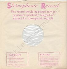 "Vintage INNER SLEEVE or SLEEVES 12"" DECCA Stereophonic Record red pink v1 x 1"