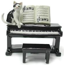 Northern Rose Miniature Porcelain Animal Musician Kitten with Piano R244