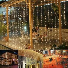 9.8ftx6.6ft 224LED Christmas xmas String Fairy Wedding Curtain Light  warm white