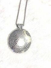 "OR PAZ STERLING SILVER LACE MEDALLION PENDANT WITH 36"" CHAIN, 23.0g (M529-6-4)"