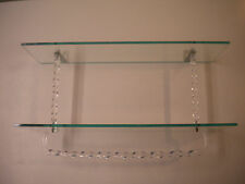Vintage Mid-Century 1950's Twisted Lucite, Glass & Towel Bar Holder 2 Tier Shelf