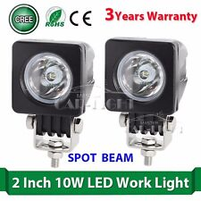 2X 10W Cree LED Work Light Spot Square Off Road Car Boat Vehicle Jeep Truck ATV