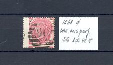 GB ENGLAND 1868 SG#103 PL 5  VARIETY SHIFTED PERFORATION
