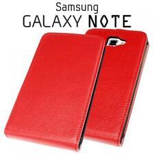 Handy Tasche Hülle Samsung Galaxy Note N7000 i9220 Rot Etui Cliptasche Magnet