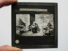 BELGIUM BRUGES LACEMAKERS VINTAGE MAGIC LANTERN SLIDE