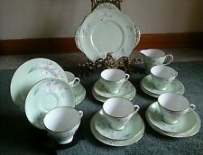 RARE VINTAGE RETO ROYAL GRAFTON HAND PAINTED TEA SET FLOWERS 20 PIECES
