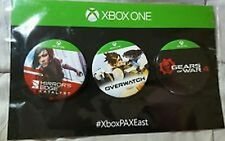 Xbox One 3 Pin Set NEW Mirrors Edge Catalyst Overwatch Gears of War 4 NEW OnCard