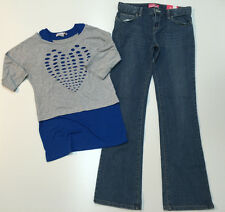Teen Girl Outfit Old Navy Denim Boot-cut Pants & Speechless Double Top 14-16