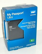 WD WESTERN DIGITAL MY PASSPORT ULTRA 1TB EXTERNAL DRIVE PREMIUM STORAGE SEALED