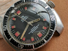 Vintage GK Breil Sub 200 M OKAY Divers Watch w/Patina,All SS Case,PUW 1461 Mvmt