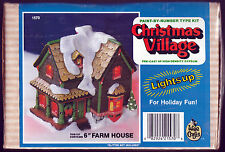 Wee Crafts Christmas Village Farm House Paint By Numbers Type Kit Lights Up 1570