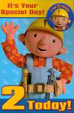 Bob the Builder  It's Your Special Day!  Birthday card & I am 2 Today badge new