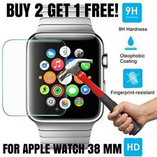 100% GENUINE BRAND NEW TEMPERED GLASS SCREEN PROTECTOR FOR APPLE WATCH 38MM