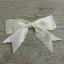"5x 95mm approx Large Double Bows Satin Ribbon Bows With Tails  4"" wide Beautiful"
