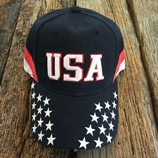 USA American Flag hat cap Stars-Stripes USA embroidered Baseball curved bill -S