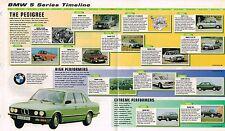 BMW 5 Series Timeline History Brochure: M5,535i,525,M,528i,525e,530i,ALPINA,B10,