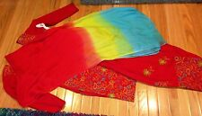 Gorgeous Indian Pakistani Semi Patiala Salwar Kameez Bollywood Large