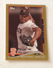 2014 Topps Mini SANTIAGO CASILLA GOLD #12/63 Made Giants #636 Online Exclusive