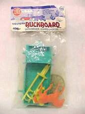 Vintage 1960's The Toy House Plastic Western Buckboard Wagon MPC