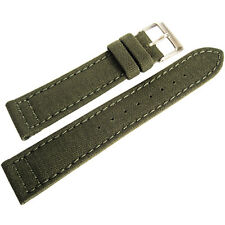 18mm Hadley-Roma MS850 Mens Army Olive Green Cordura Canvas Watch Band Strap