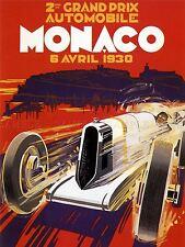 SPORT ADVERT MONACO GRAND PRIX MONTE CARLO MOTOR ART POSTER PRINT PICTURE LV7466