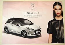 Citroen. DS3. neuf DS3 & DS3 cabrio. givenchy le maquillage. 2016 sales brochure