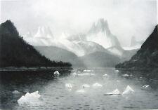 British Columbia STIKINE RIVER ICEBERG GLACIER ~ Old 1888 Landscape Art Print