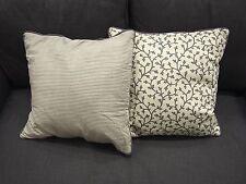 2x IKEA Deko Kissenbezug Kissenhülle Kopfkissen Bezug Hülle 50 x 50 cm Grau/Weiß