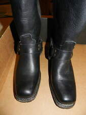 Women's Vintage Shoe Company Black Gretchen Harness Motorcycle BOOT Worn 2X 8.5