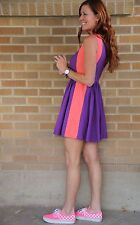 NWT~Asos~2 Tone Skater Dress~Purple/pink~Colorblock~UK 10/US 6~$75  **SOLD OUT**