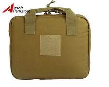 "12"" Tactical Nylon Padded Pistol Hand Gun AEG Magazine Carry Case Bag Pouch Tan"