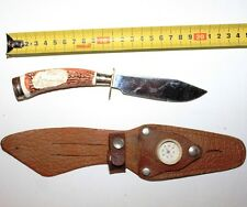 Beautiful Vintage Hunter Knife Soviet Russia USSR in case holster leather
