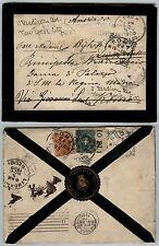 REGNO-20c+5c(61/67)-Lettera CARTEGGIO REALE Napoli- Roma- New York 23.10.1900